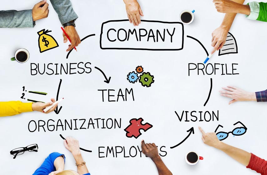 46599141 - company organization employees group corporate concept