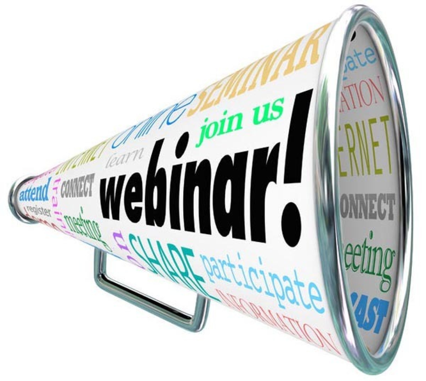 25828197 - a bullhorn or megaphone with the word webinar
