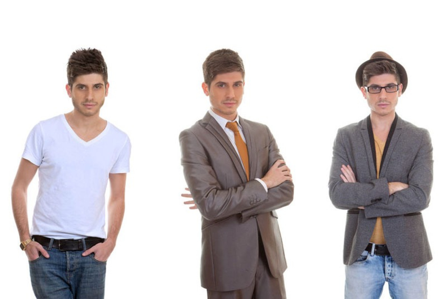 39240263 - fashion man, different mens styles, outfits, clothes.